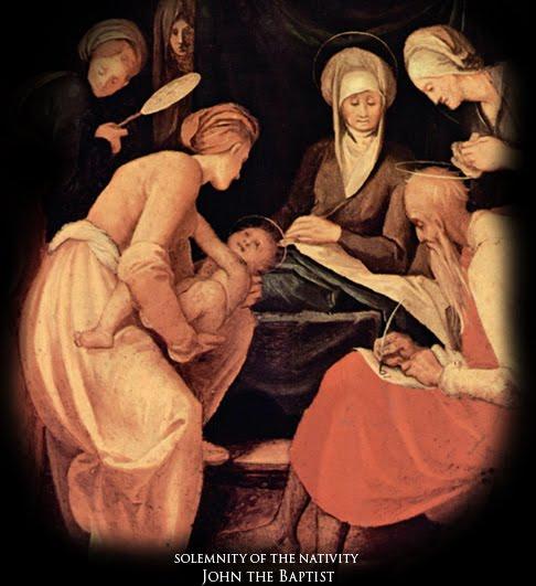 Solemnity of the Nativity of Saint John the Baptist  dans images sacrée